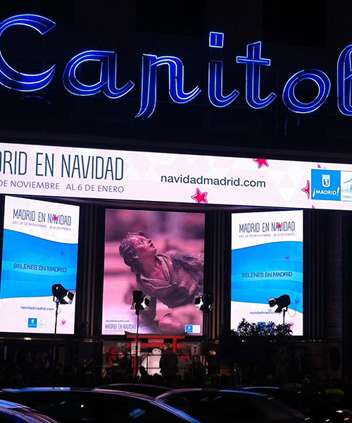 Spot animacion motion graphics Navidad madrid 2014 pantallas Callao Corte Ingles Gran Via
